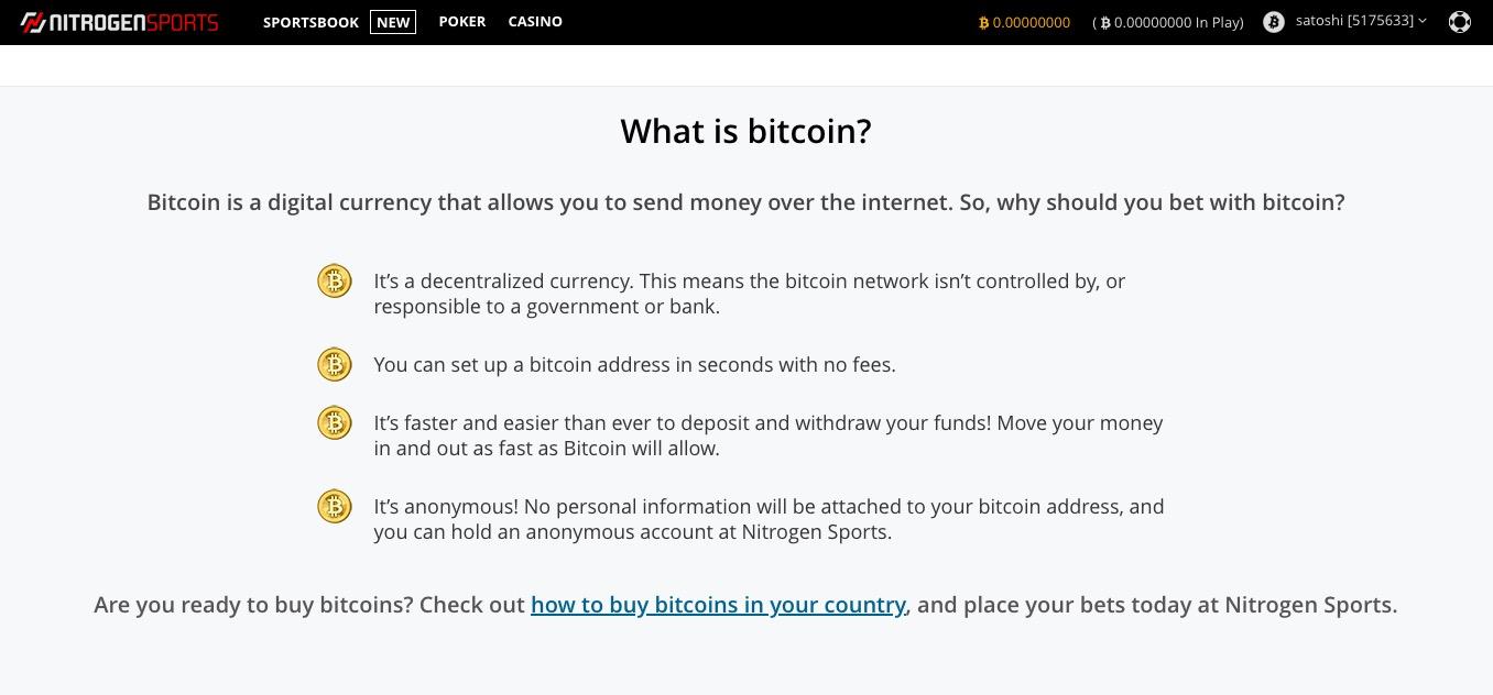 NitrogenSports what is bitcoin